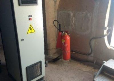 Extintores no aerogerador