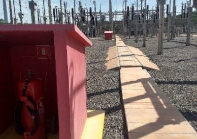 Proteção de incendio na subestação
