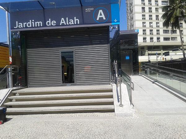 FERROVIA, MetrôRio (Estação Jardim de Alah) – Rio de Janeiro/RJ
